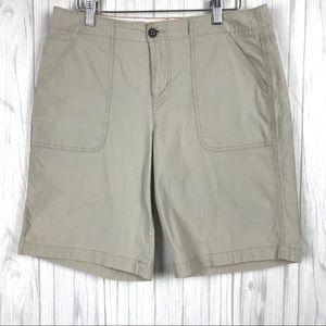 Dockers Shorts Size 10 Women Pockets Tan